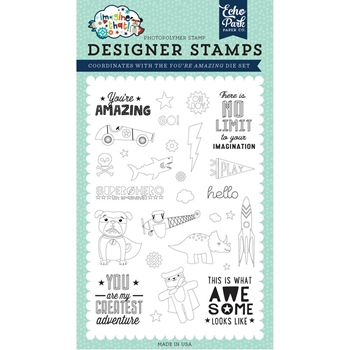 Echo Park YOU'RE AMAZING Clear Stamps itb147043