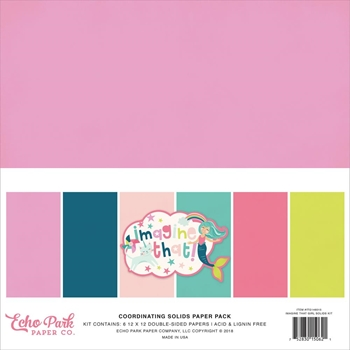 Echo Park IMAGINE THAT GIRL 12 x 12 Double Sided Solids Paper Pack itg146015