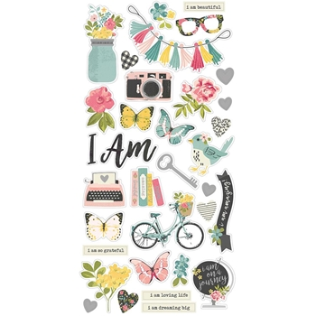 Simple Stories I AM 6 x 12 Chipboard Stickers 10039