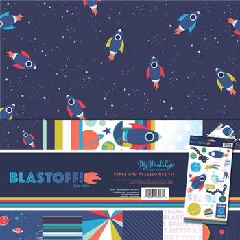 My Mind's Eye BLAST OFF 12 x 12 Paper And Accessories Kit bst110