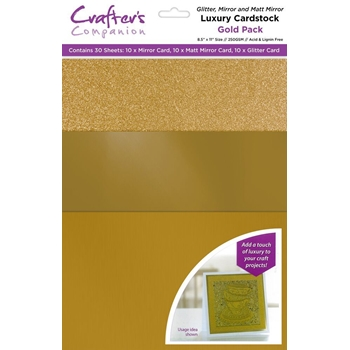 Crafter's Companion GOLD Luxury Cardstock Pack cp-lmix-gold811