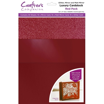 Crafter's Companion RED Luxury Cardstock Pack cp-lmix-red811