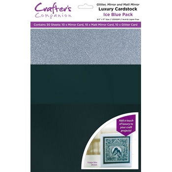 Crafter's Companion ICE BLUE Luxury Cardstock Pack cp-lmix-iceb811