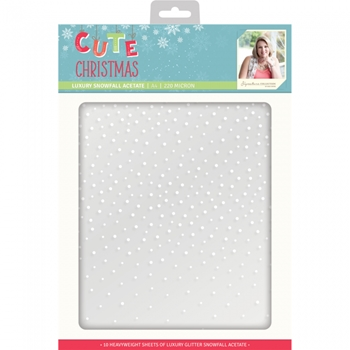 Crafter's Companion CUTE CHRISTMAS A4 Luxury Snowfall Acetate s-cc-acetate