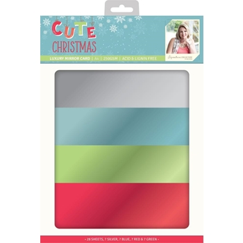 Crafter's Companion CUTE CHRISTMAS A4 Luxury Mirror Cardstock s-cc-mirror