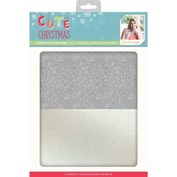 Crafter's Companion CUTE CHRISTMAS A4 Luxury Glitter Cardstock s-cc-glitter