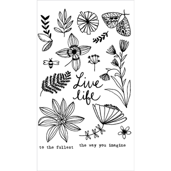 Flora and Fauna LIVE LIFE WILDFLOWERS Clear Stamp Set 20167