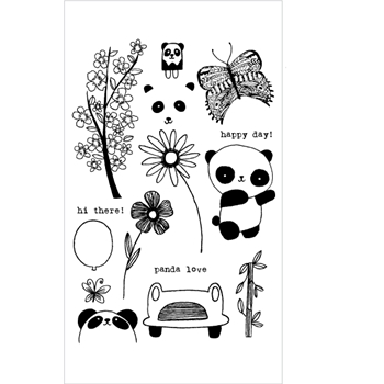 Flora and Fauna PANDA Clear Stamp Set 20170