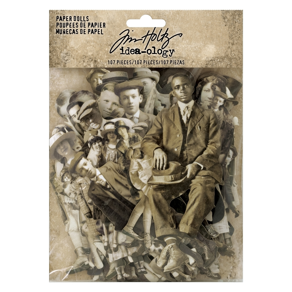 Tim Holtz Idea-ology PAPER DOLLS Paperie th93555oc zoom image