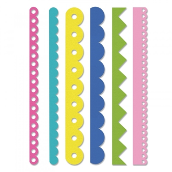 Sizzix Edgelits SCALLOPS AND ZIGZAGS Wafer Thin Die Set 662735