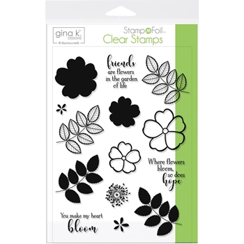 Therm O Web Gina K Designs WHERE FLOWERS BLOOM Clear Stamp Set 18080
