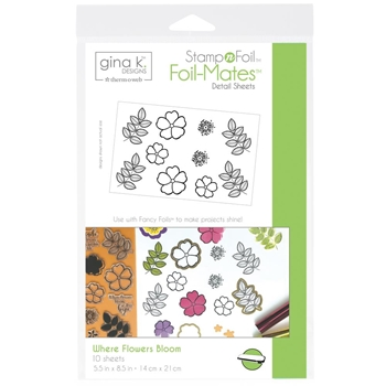 Therm O Web Gina K Designs WHERE FLOWERS BLOOM Foil-Mates Sheets 18077