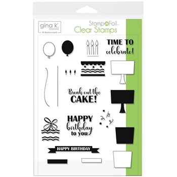 Therm O Web Gina K Designs TIME TO CELEBRATE Clear Stamp Set 18079