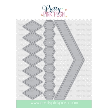 Pretty Pink Posh STACKED EDGES 2 DIE Set