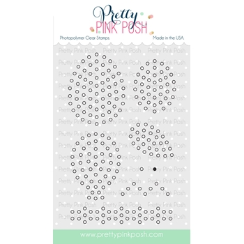 Pretty Pink Posh SPARKLE DOT PATTERNS 2 Clear Stamp Set