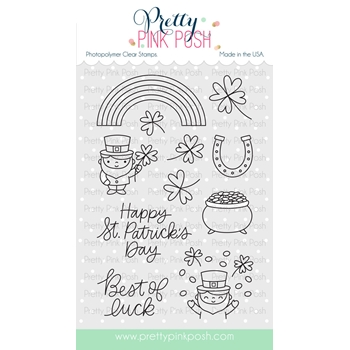 Pretty Pink Posh BEST OF LUCK Clear Stamp Set