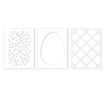 Simon Says Stencils EASTER EGG DESIGN TRIO ssst121418