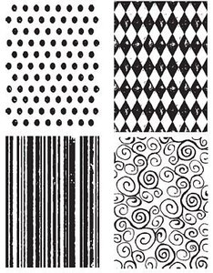 Tim Holtz Cling Rubber Stamps TINY TEXTURES Background Stampers Anonymous