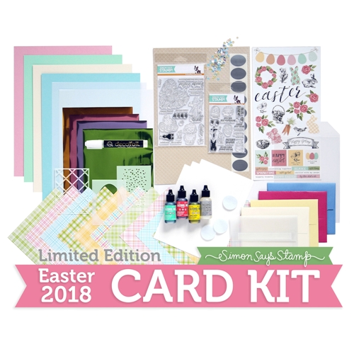 Limited Edition Simon Says Stamp Card Kit EASTER 2018 ssseck Preview Image