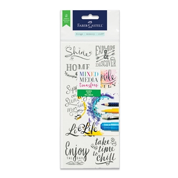 Faber-Castell MIXED MEDIA TRANSFERS WORDS 770751