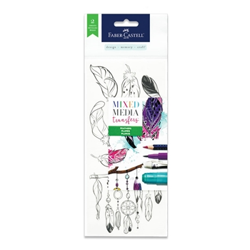 Faber-Castell MIXED MEDIA TRANSFERS FEATHERS 770752