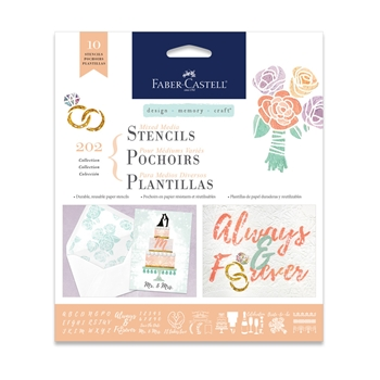 Faber-Castell MIXED MEDIA STENCILS WEDDINGS 770609