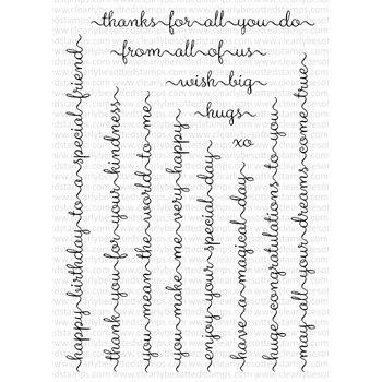 Clearly Besotted SWEETEST SENTIMENTS Clear Stamp Set