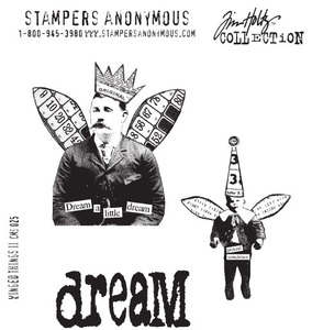 Tim Holtz Cling Rubber Stamps WINGED THINGS 2 Two Stampers Anonymous CMS025 Preview Image