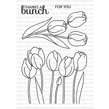 Clearly Besotted SPRING TULIPS Clear Stamp Set