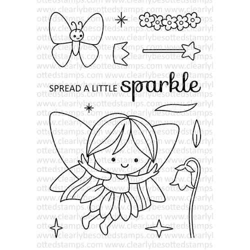 Clearly Besotted FAIRY TALE FAIRY Clear Stamp Set Preview Image