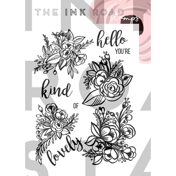 The Ink Road Stamps BELLA FLORA Clear Stamp Set inkr024