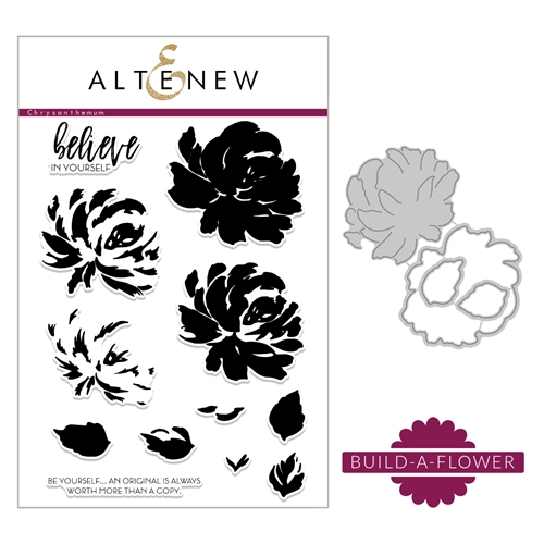 Altenew BUILD A FLOWER CHRYSANTHEMUM Clear Stamp and Die Set ALT2183