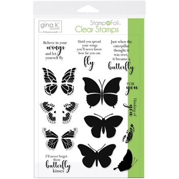 Therm O Web Gina K Designs BUTTERFLY KISSES Clear Stamps 18078
