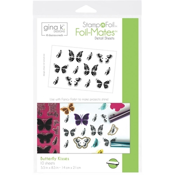 Therm O Web Gina K Designs BUTTERFLY KISSES Foil-Mates Detail Sheets 18075