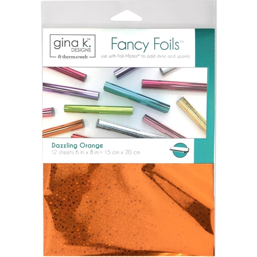 Therm O Web Gina K Designs DAZZLING ORANGE HOLOGRAPHIC Fancy Foils Deco Foil 18070 Preview Image