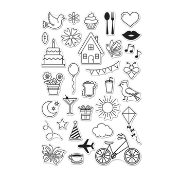 Hero Arts Clear Stamps EVERYDAY ICONS CM248