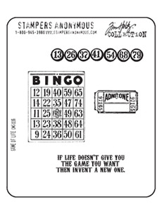 Tim Holtz Cling Rubber Stamps GAME OF LIFE Stampers Anonymous zoom image