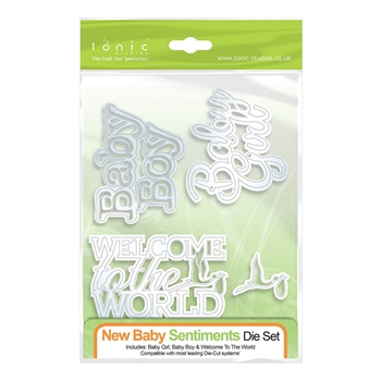 Tonic NEW BABY SENTIMENTS Die Set 606e