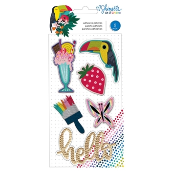 American Crafts Shimelle EMBROIDERED PATCHES Embellishments Box of Crayons 346618