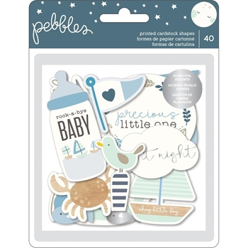 Pebbles Inc. BOY EPHEMERA Night Night Baby Cardstock Die Cuts 732681