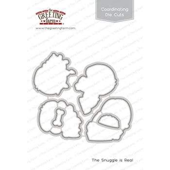 The Greeting Farm THE SNUGGLE IS REAL Coordinating Die Cuts TGF378