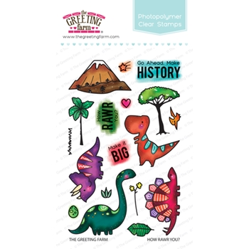 The Greeting Farm HOW RAWR YOU Clear Stamps TGF381