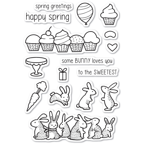 Memory Box Clear Stamps SPRING BUNNIES Open Studio cl5220 Preview Image