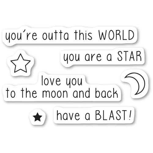 Memory Box Clear Stamps OUTTA THIS WORLD Open Studio cl5221 Preview Image