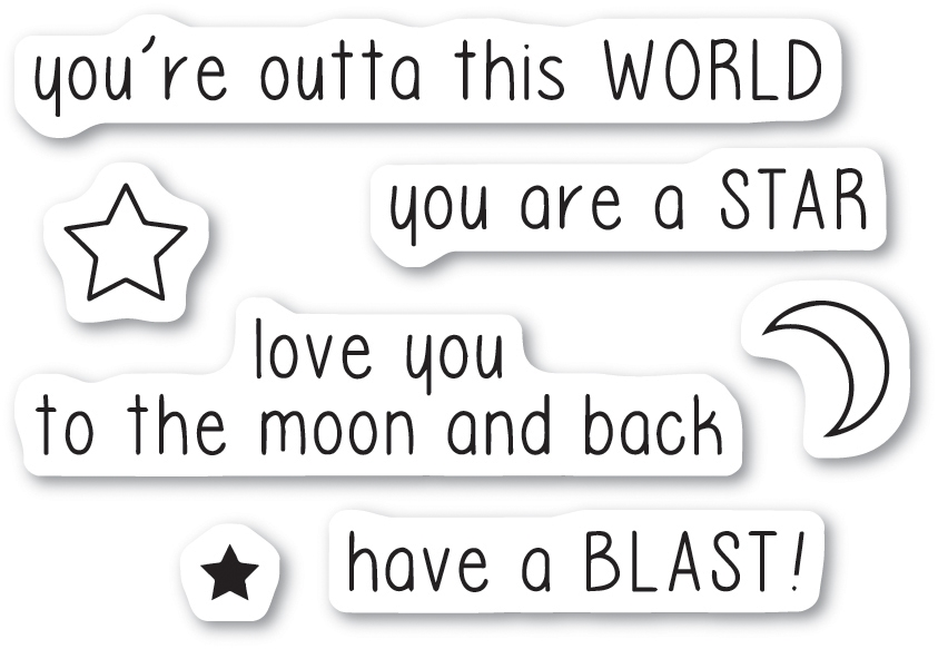 Memory Box Clear Stamps OUTTA THIS WORLD Open Studio cl5221 zoom image