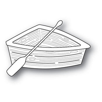 Memory Box WOODEN ROWBOAT POPPY STAMPS Craft Die 2036