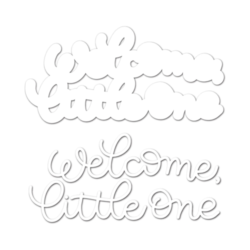 RESERVE Simon Says Stamp WELCOME LITTLE ONE Wafer Dies sssd111817 Best Days Preview Image