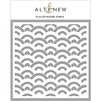 Altenew SCALLOP BUILDER Stencil ALT2194