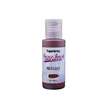 Paper Artsy Fresco Finish MAHOGANY Chalk Acrylic Paint 1.69oz ff124