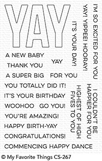 My Favorite Things YAY FOR YOU Clear Stamps CS267
